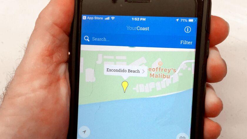 Escondido Beach access on the YourCoast App.