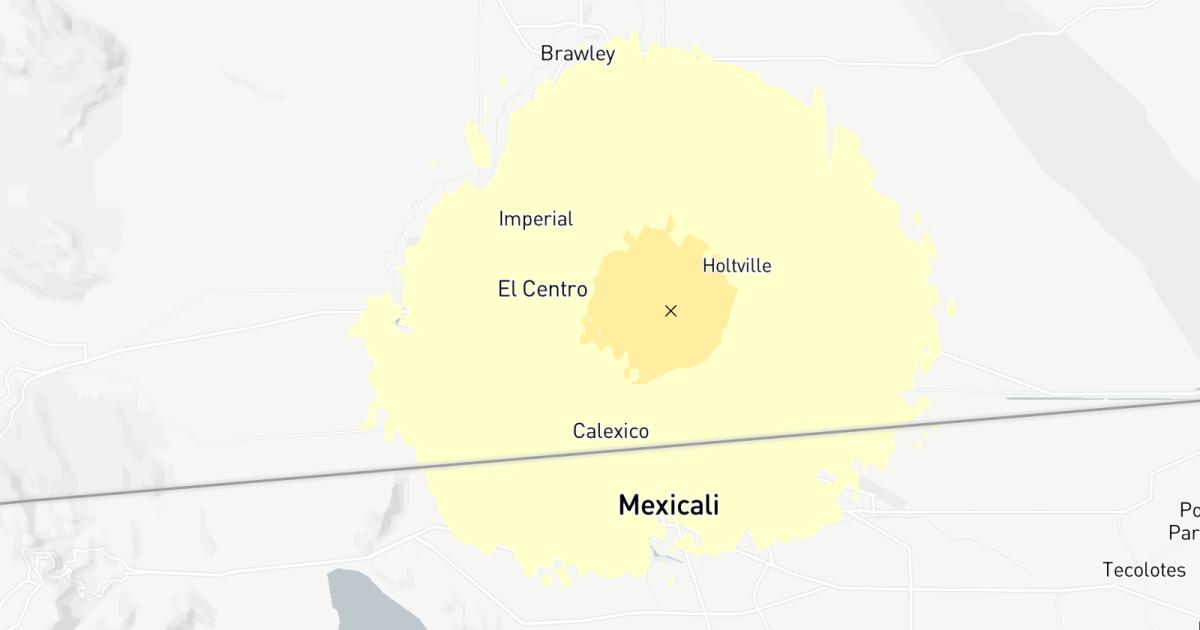 Magnitude 3.5 earthquake strikes near Calexico, Calif.