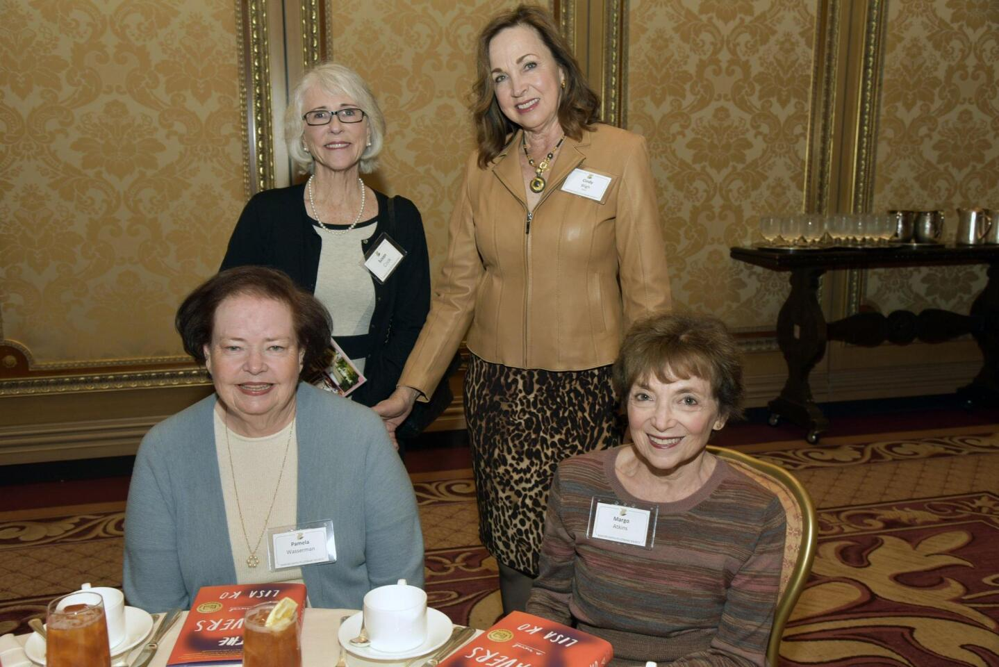 Standing: Sue Cook, Cindy Bligh. Seated: Pam Wasserman, Margo Atkins