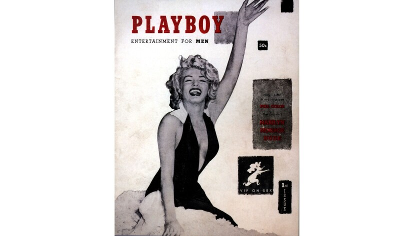 Marilyn Monroe on the inaugural issue of Playboy.