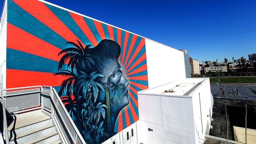 LAUSD says it will whitewash a mural by artist Beau Stanton at Robert F. Kennedy Community Schools in Koreatown.