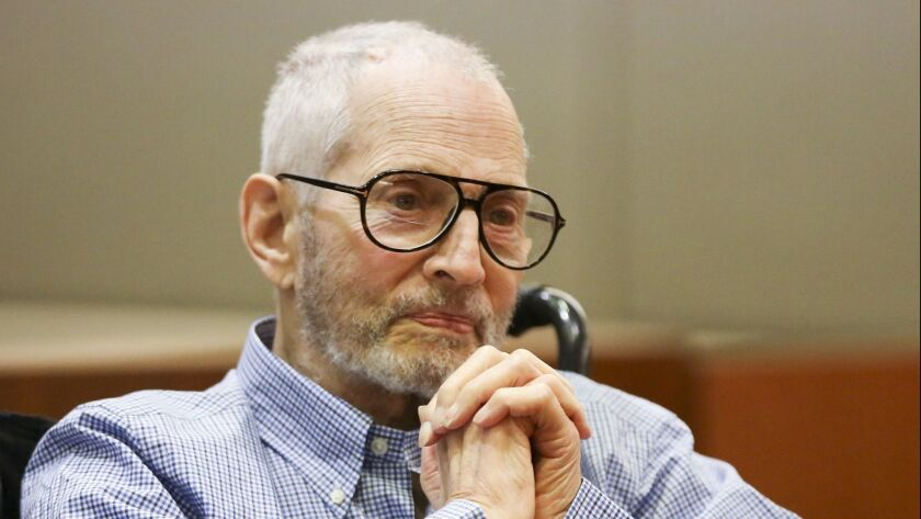 New York real estate scion Robert Durst, shown at an earlier hearing in Jan. 2017, returned to court Monday for a preliminary hearing.