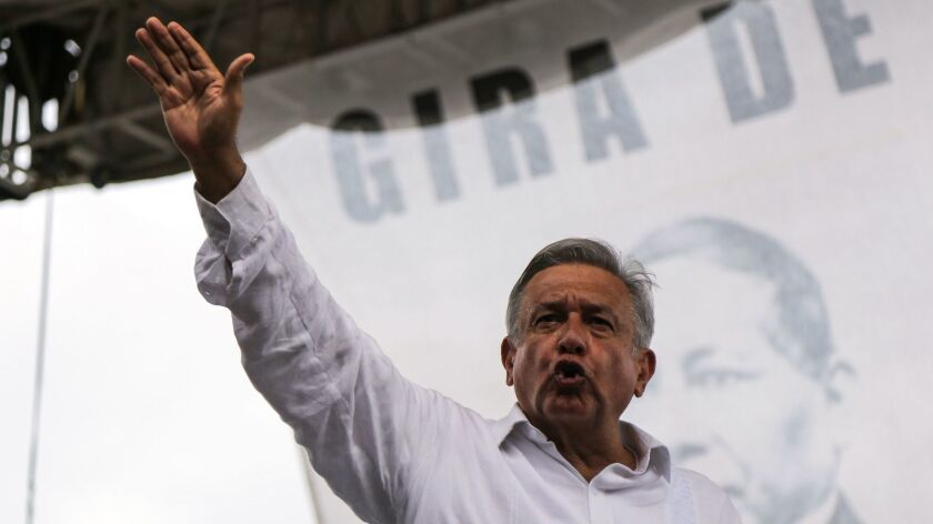 Lopez Obrador participates in a public event in Acapulco, Mexico - 04 Oct 2018