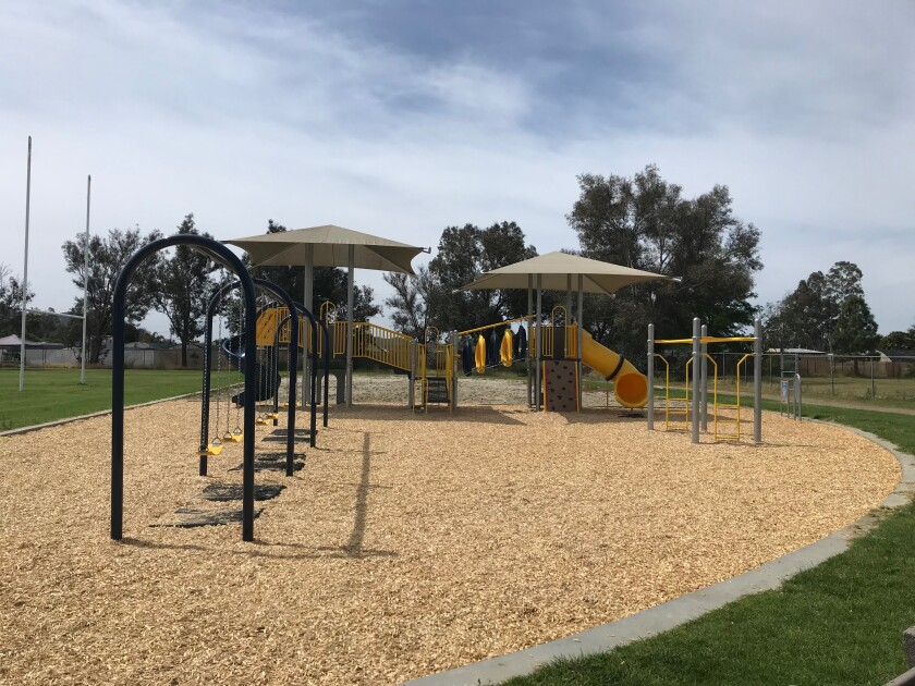 Vallecitos School students will be able to make full use this year of a playground that was installed in late May.