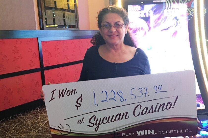 Falina R. won Sycuan Casino's Buffalo Grand slot machine jackpot