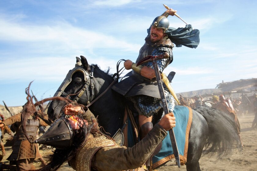 """Christian Bale portrays Moses in a scene from """"Exodus: Gods and Kings."""""""