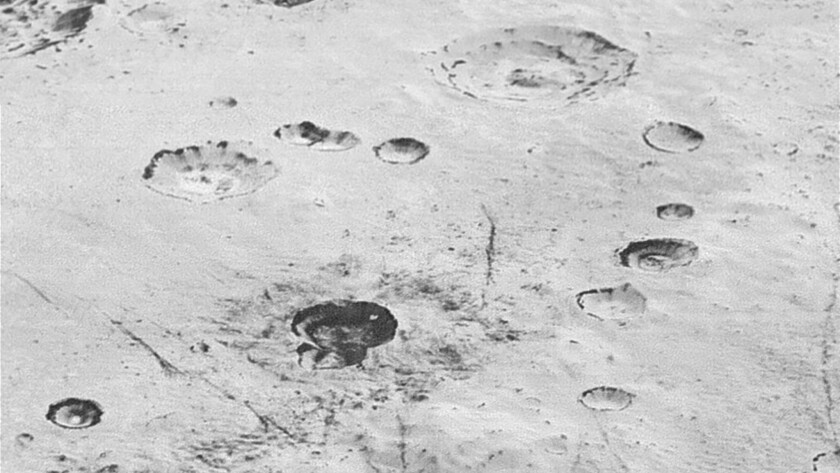 Craters on Pluto