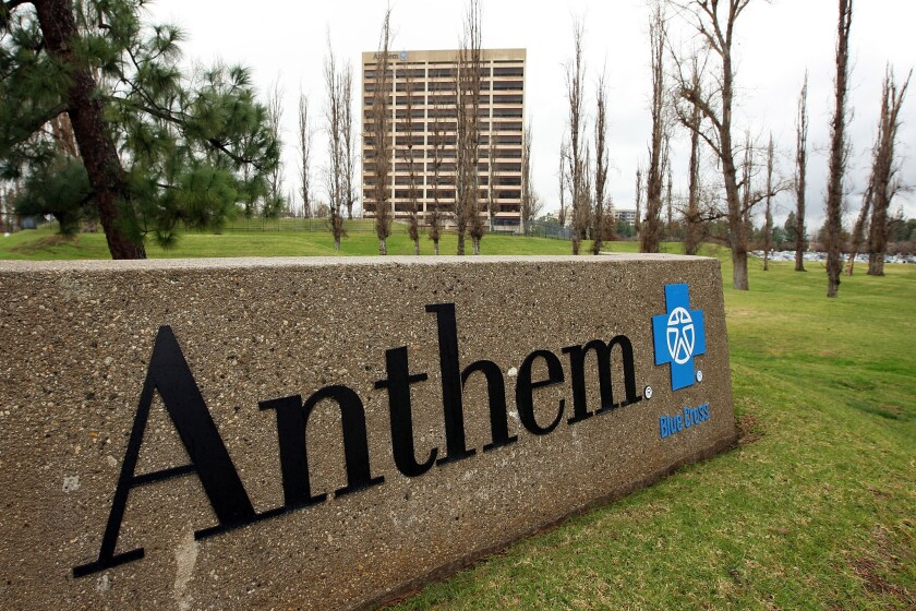 Anthem is California's second-largest health insurer behind HMO giant Kaiser Permanente.