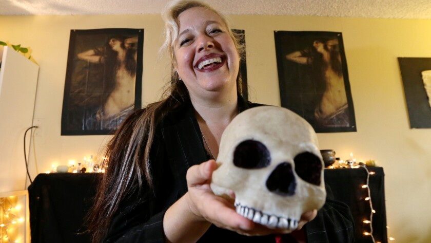 Satanic Temple of Seattle founder Lilith Starr at home.