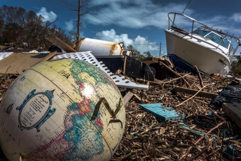 Vista de los destrozos del huracán Irma en Marathon, los Cayos de Florida (EE.UU.). EFE/Archivo