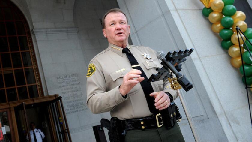 El sheriff Jim McDonnell, del condado de Los Ángeles.