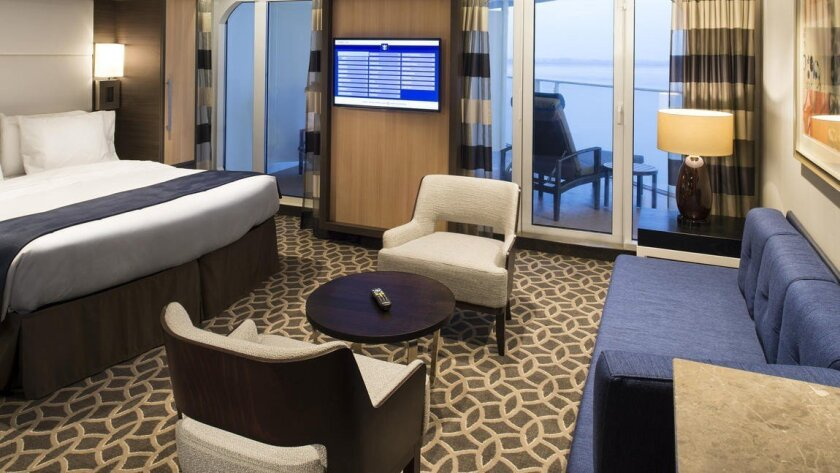 A family junior suite on Royal Caribbean's Quantum of the Seas.