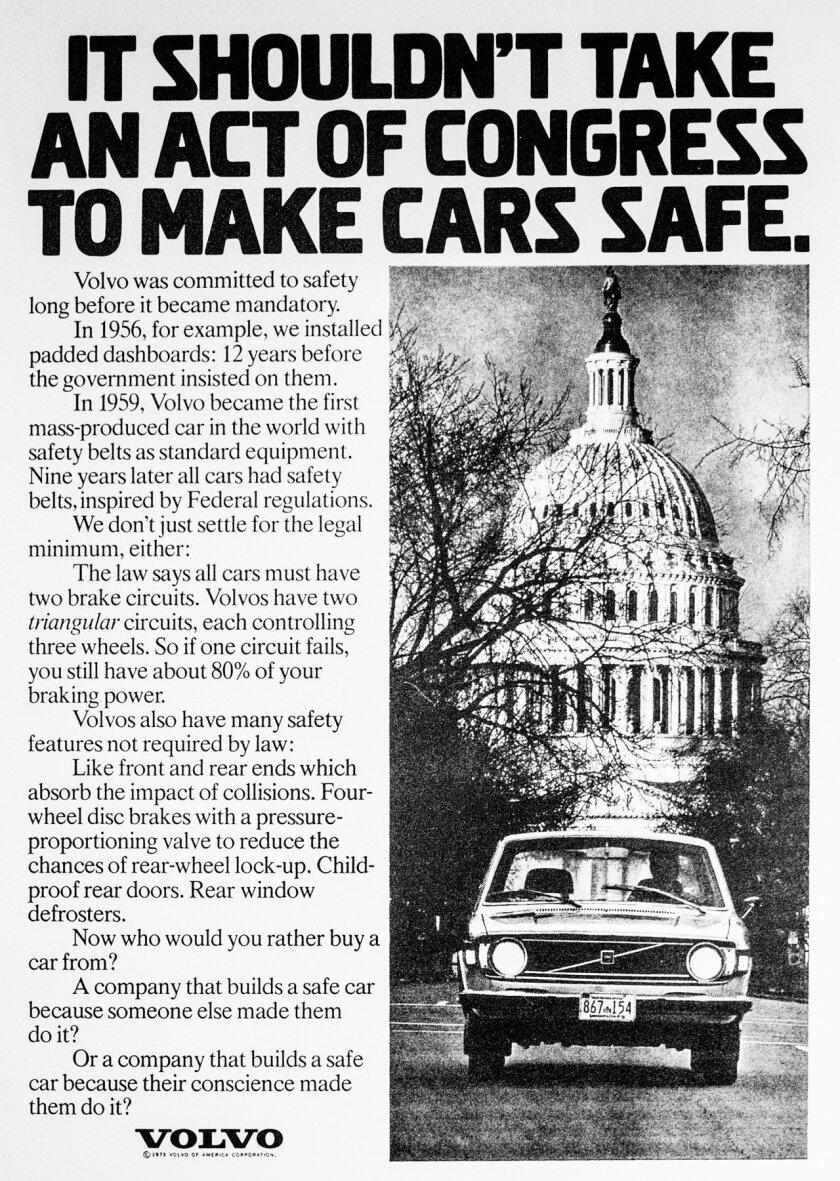 Vintage Volvo print ad