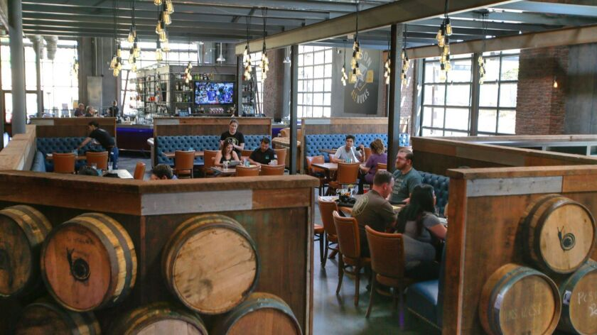 The restaurant and main bar at newly opened Uge Gastropub & Common House in San Marcos.