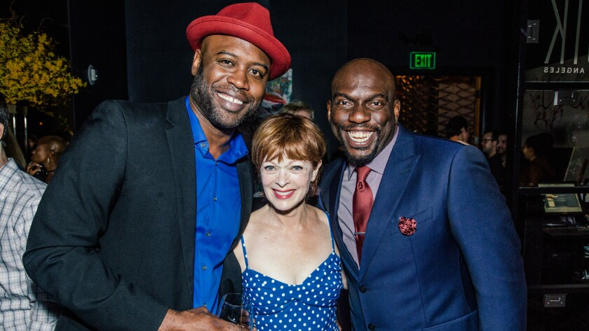 Kevin Daniels, Frances Fisher and Omar Dorsey