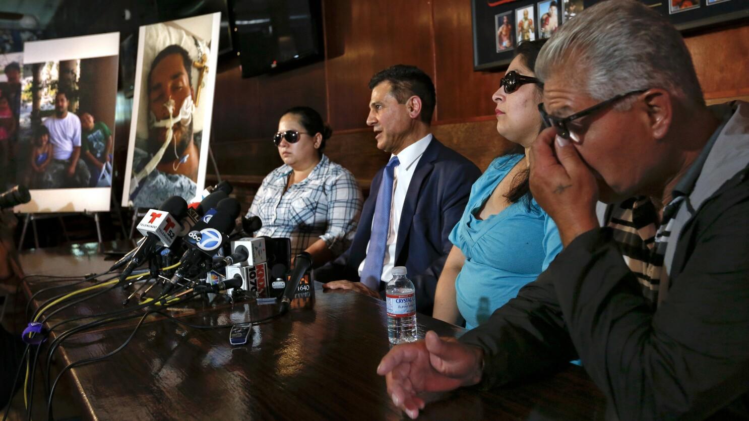 Anaheim police struck homeless man in chest with Taser