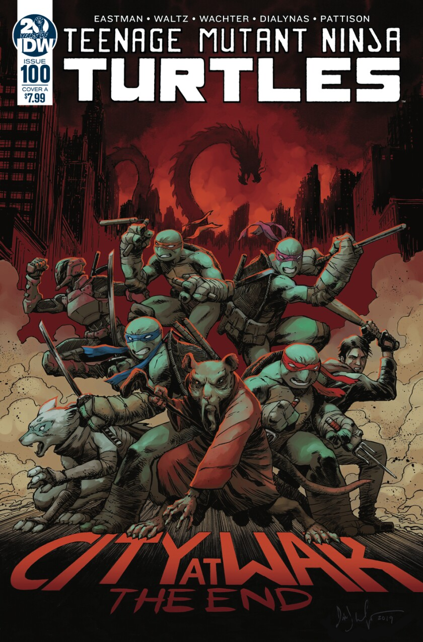 "IDW Publishing is releasing the 100th edition of its ""Teenage Mutant Ninja Turtles"" series on Dec. 11, 2019."