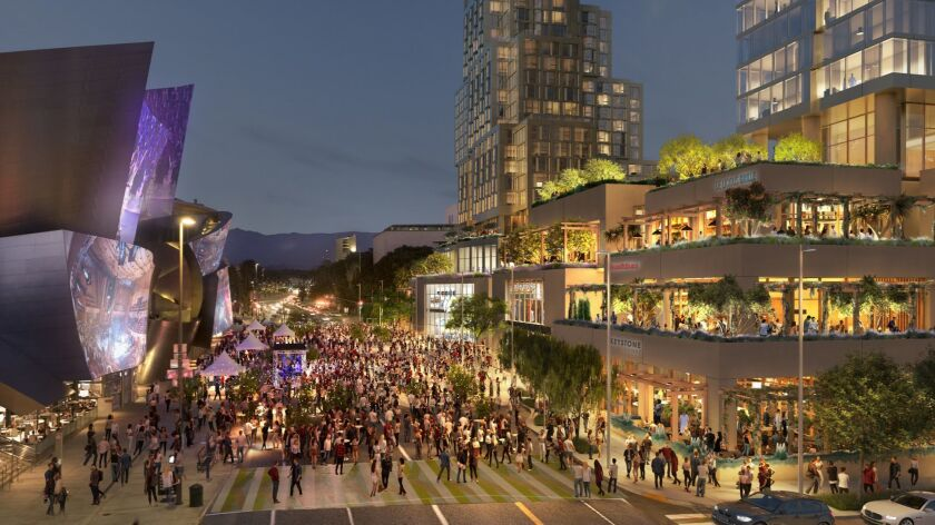 Related Cos. has secured construction financing for the Grand, a nearly $1-billion complex with apartments, condominiums, theaters, restaurants and shops. The site is on Grand Avenue at 1st Street, across from the Walt Disney Concert Hall.
