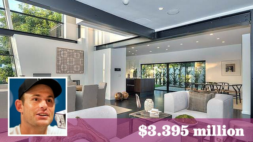 Former top-ranked tennis player Andy Roddick and his wife, actress-model Brooklyn Decker, have put their home in Cheviot Hills on the market for $3.395 million.