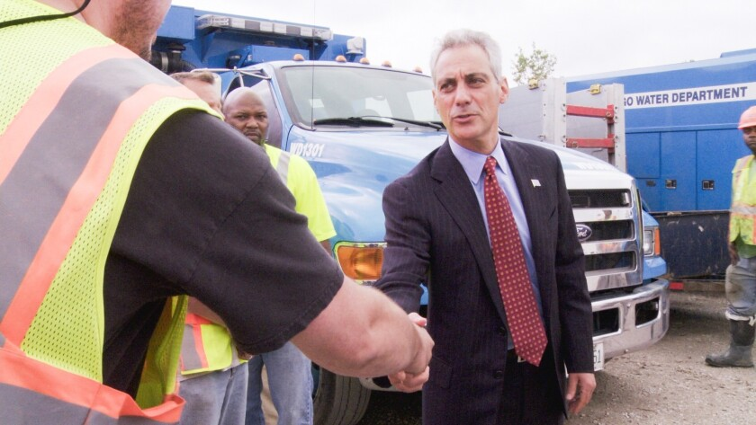 "Chicago Mayor Rahm Emanuel in a scene from the CNN documentary series ""Chicagoland."""