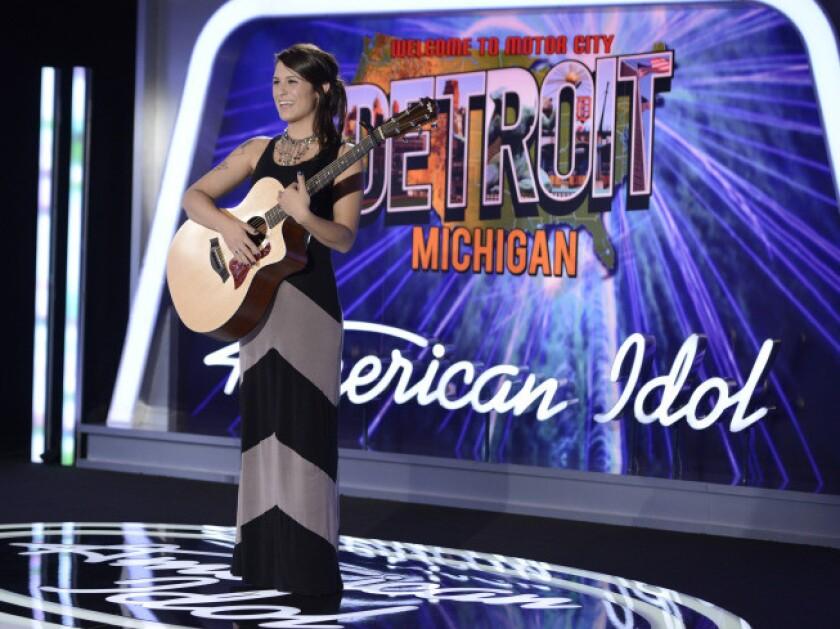 """Keri Lynn Roche auditions for """"American Idol"""" in Detroit."""