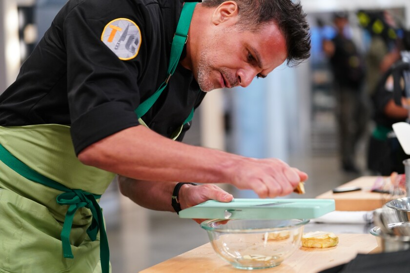 "Encinitas-based chef Angelo Sosa competes in an episode of ""Top Chef: All-Stars"""