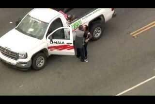 Police pursuit of stolen U-haul ends in Montebello standoff