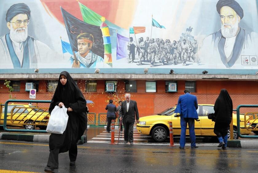 A mural in Tehran.