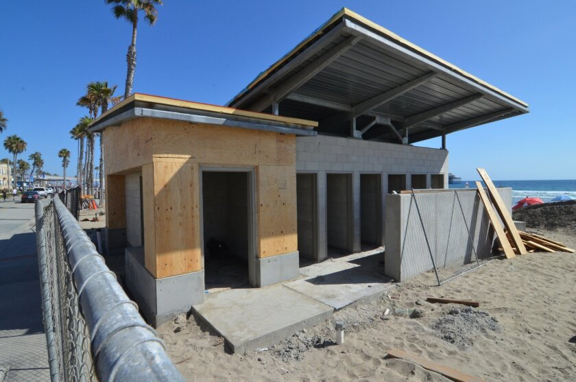 Several beach restrooms in Oceanside remain closed during the busy summer season due to renovation project that has been delayed.