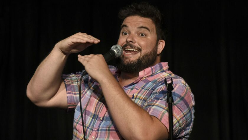 Comedian Jon Gabrus performs at the Upright Citizens Brigade Theatre.