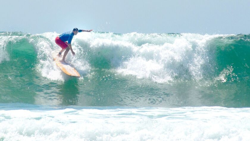 Scott Johnston surfs at La Jolla Shores