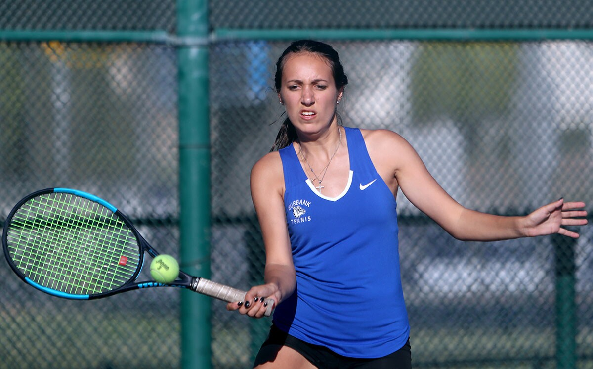 Photo Gallery: Burbank High vs. Burroughs in girls tennis