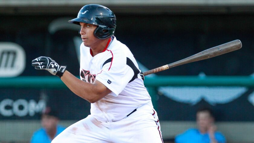 LAKE ELSINORE , August 15, 2016 | The Storm's Josh Naylor swings during the Storm's game against th