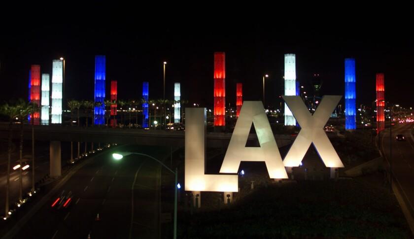 The main entrance at Los Angeles International Airport.