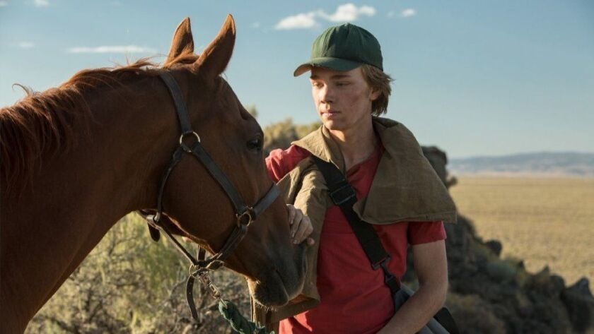 """Charlie Plummer in a scene from """"Lean on Pete."""""""