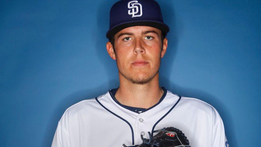 San Diego Padres pitcher Brad Wieck.