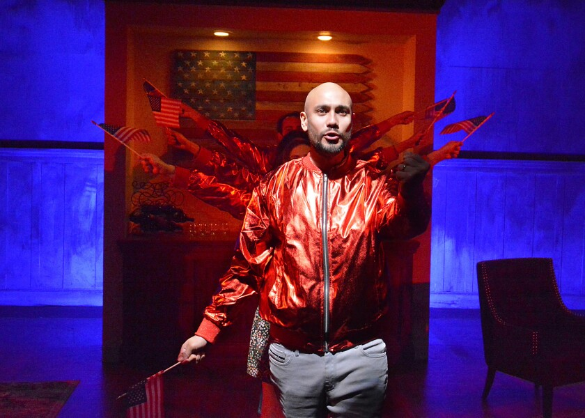 """Andrés M. Baggs in """"West Adams"""" at Skylight Theatre."""