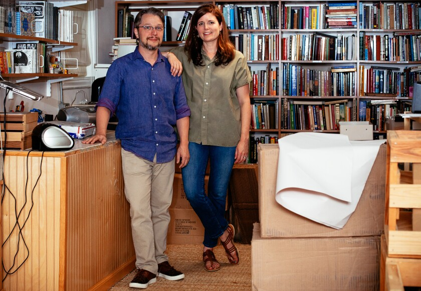 Lance and April Ledbetter, owners of Dust-to-Digital