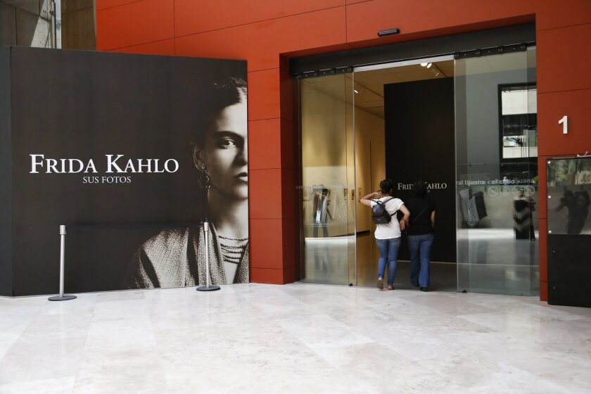 An exhibit of Frida Kahlo photos runs through Sept. 13 at the Tijuana Cultural Center.