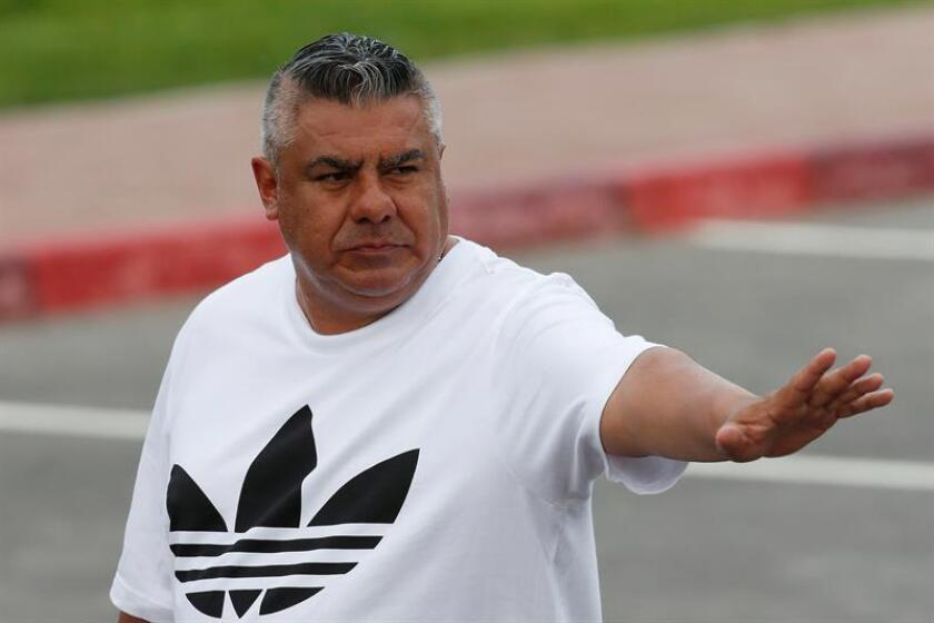 En la imagen un registro del presidente de la Asociación del Fútbol Argentino (AFA), Claudio Tapia. EFE/Archivo