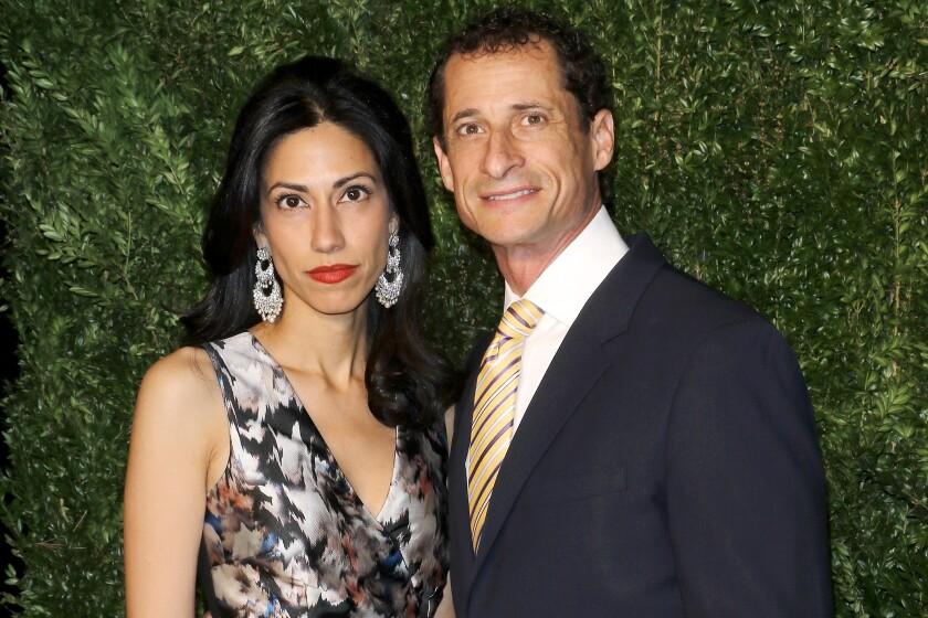 Huma Abedin and Anthony Weiner.