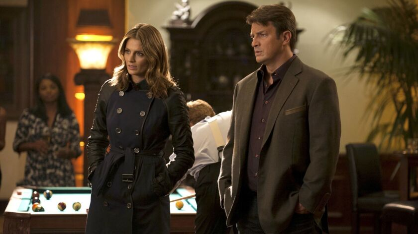 "Nathan Fillion and Stana Katic in ""Castle"" on ABC."