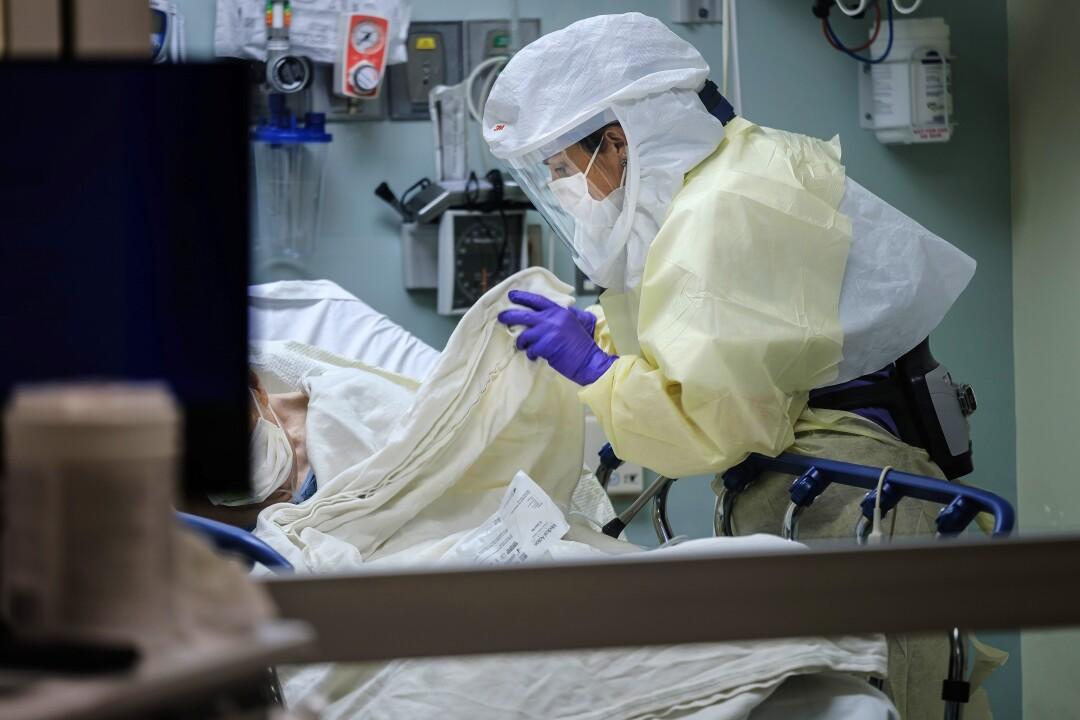 Nurse cares for patient
