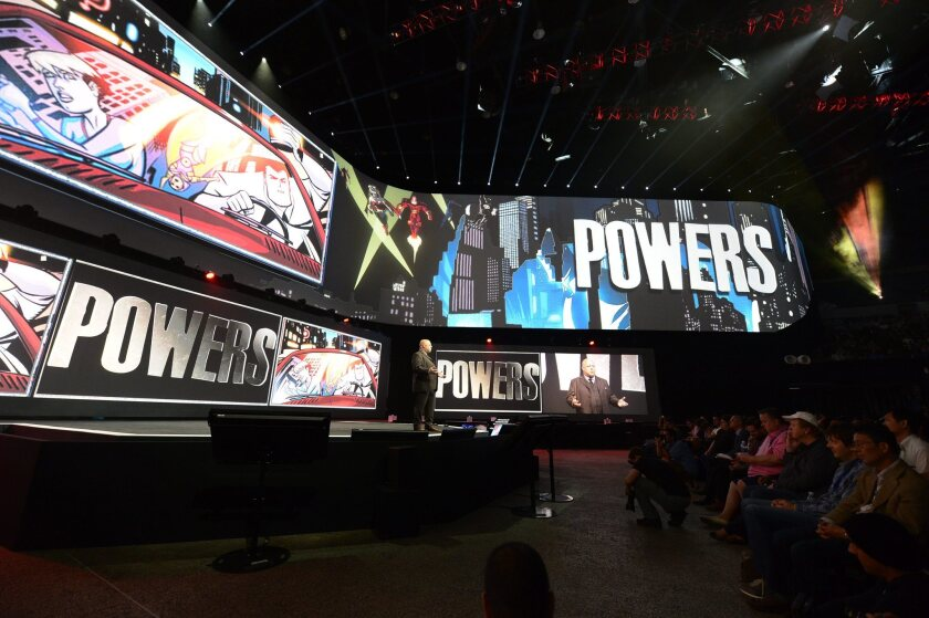 """""""Powers,"""" Sony's first original TV series for PlayStation, is introduced at the Sony PlayStation press conference prior to the start of E3 2014."""