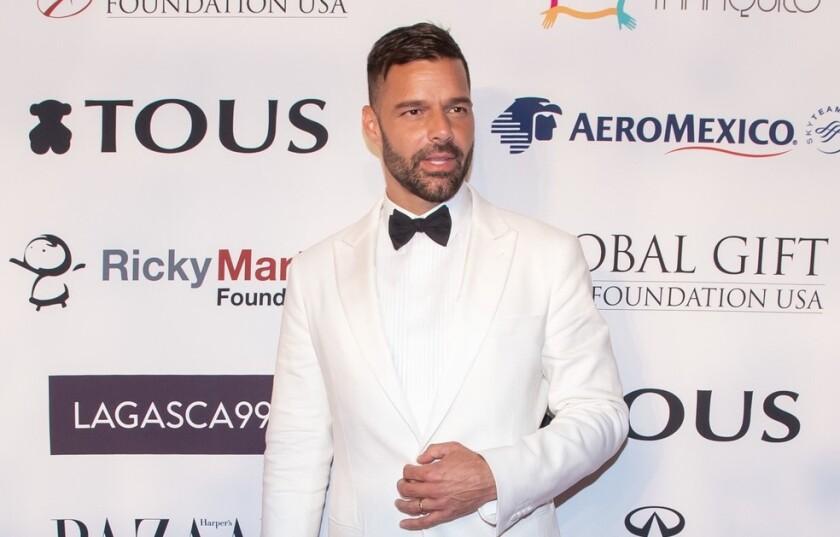 El cantante Ricky Martin en una foto de archivo.