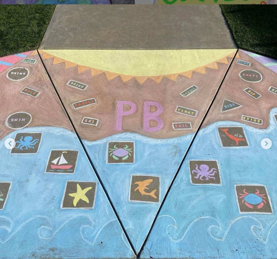 Robin Williams won the grand prize in the 2nd annual PBTC Chalk Art Contest.