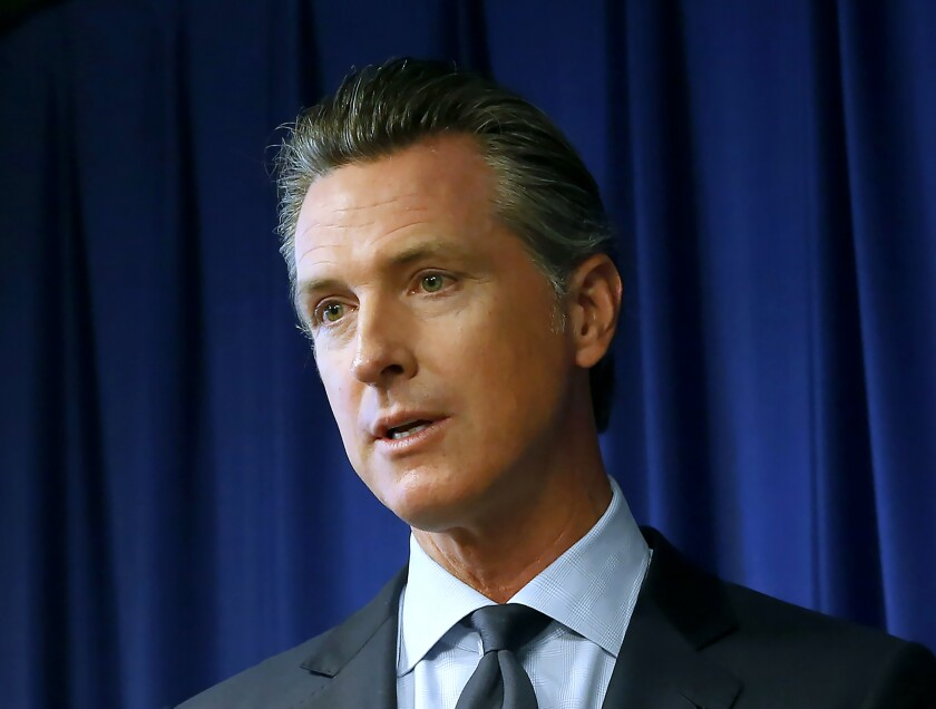 Gov. Gavin Newsom has been critical of the safety record of the horse racing industry.